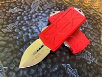 Microtech Exocet Double Edge Stonewashed Standard Red