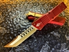 Microtech Combat Troodon Hellhound Tanto Bronzed Standard Merlot