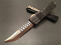 Microtech Signature Series Hellhound Combat Troodon Bronzed Carbon Fiber