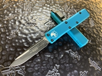 Microtech UTX85 Single Edge Standard Turquoise