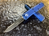 Microtech UTX-85 Single Edge Part Serrated Blue