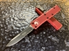 Microtech UTX85 Single Edge Part Serrated Red
