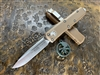 Microtech UTX-85 Single Edge Satin Standard Tan