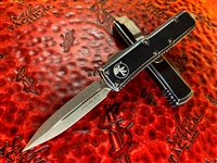 Microtech UTX85 Double Edge Apocalyptic Standard Distressed Black