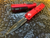 Microtech UTX85 Double Edge Part Serrated Red