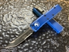 Microtech UTX85 Tanto Part Serrated Blue