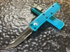 Microtech UTX85 Tanto Part Serrated Turquoise