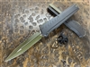 Microtech Cypher MK7 Double Edged Limited Edition OD Green Blade w/ Green Accents