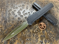 Microtech Cypher MK7 Double Edged Limited Edition OD Green Blade w/ Black Accents