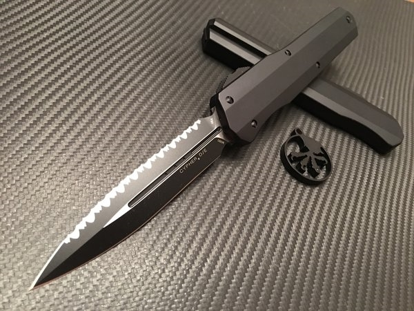Microtech Cypher Double Edge Full Serrated Tactical