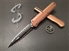 Microtech Cypher Smooth Double Edge Double Full Serrated Tan