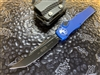 Microtech HALO VI Tanto DLC w/ DLC Accents Blue Signature Series