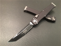 Microtech Halo VI Tanto Part Serrated Black
