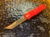 Microtech Troodon Hellhound Tanto Bronzed Standard Red