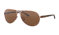 Oakley Women's Feedback Rose Gold w/ Prizm Tungsten Polarized