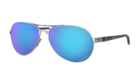 Oakley Women's Feedback Polished Chrome w/ Prizm Sapphire Polarized