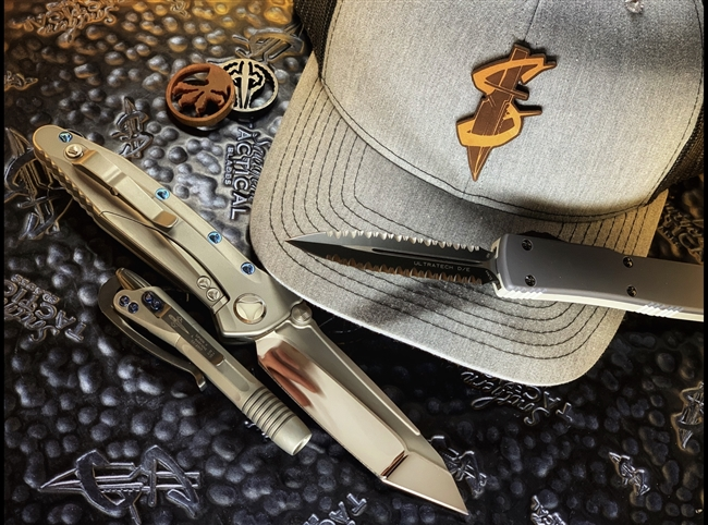 Southern Dagger Trucker Hat by Branded Bills in Heather Grey