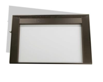 16 X 30 Medium Tone Frame Ethospace Cubicle System Glass Stacker