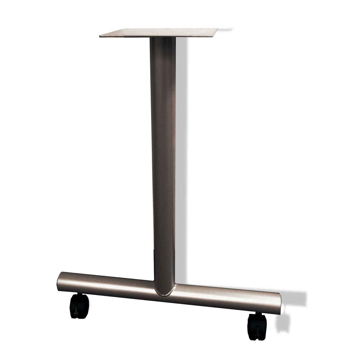 Table Leg T Type With Caster 24 D Medium Tone