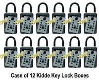 Kidde C3 Pushbutton Key Lock Box - Titanium - Case of 12
