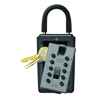 Kidde C3 Pushbutton Keysafe Portable Lock Box - Titanium