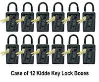 Kidde C3 Pushbutton Key Lock Box - Black - Case of 12