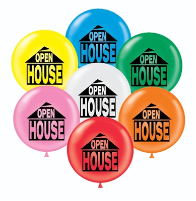 17 Inch Jumbo OPEN HOUSE Balloons Pack of 50