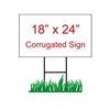 "18"" x 24"" Custom Coroplast Yard Sign"