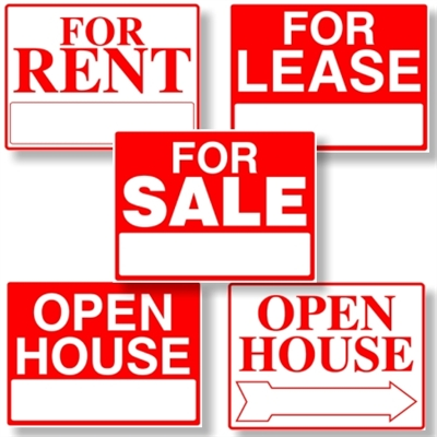 "Stock Real Estate Signs 18"" x 24"""