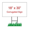 "18"" x 30"" Custom Coroplast Yard Sign"