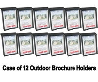 Outdoor Brochure Box and Card Holder - Case of 12 in Black