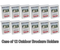 Outdoor Brochure Box and Card Holder - Case of 12 - White