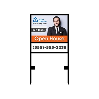 Real Estate Push In Metal Sign Frame Custom Bundle