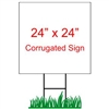 "24"" x 24"" Custom Coroplast Yard Sign"