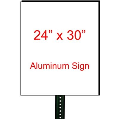 "24"" x 30"" Custom Aluminum Sign"