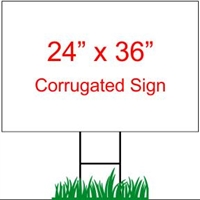 "24"" x 36"" Custom Coroplast Yard Sign"