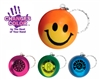 Smiley Face Mood Stress Ball Key Chain