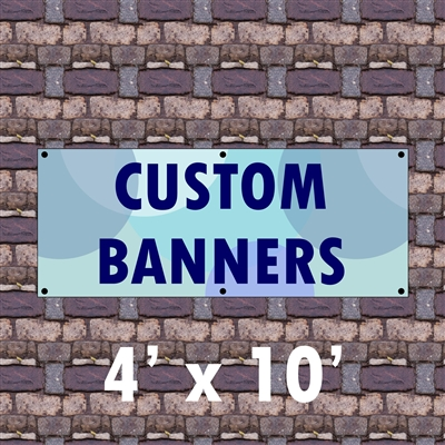 4' x 10 ' Custom Matte Outdoor Banner
