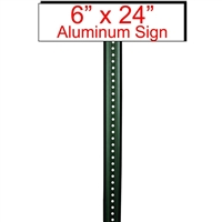 "6"" x 24"" Custom Aluminum Sign"