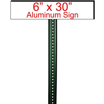 "6"" x 30"" Custom Aluminum Sign Rider"