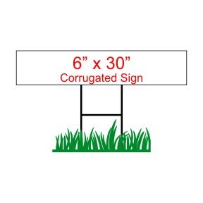 "6"" x 30"" Custom Coroplast Sign Rider"