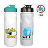 Antimicrobial Water Bottle w Flip Lid - 24oz
