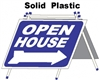 Solid Plastic Open House A Frame 6 Pack - Blue