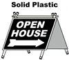 Solid Plastic Open House A Frame 6 Pack - Black