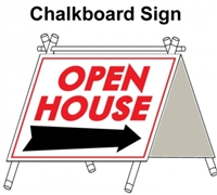Chalkboard Open House A Frame 6 Pack