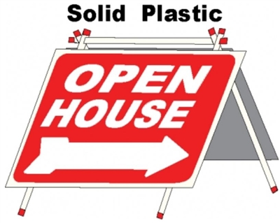 Solid Plastic Open House A Frame 6 Pack - Red