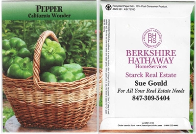 Bell Pepper Personalized Seed Packets