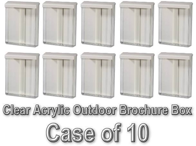 Clear Acrylic Outdoor Brochure Box - Case of 10