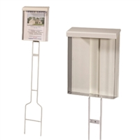 Clear Acrylic Outdoor Brochure Box on Stake
