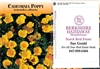 California Poppy Personalized Seed Packets